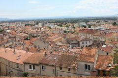 Areal View over Hyères, France Royalty Free Stock Images