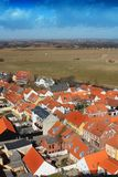 Areal View over Ribe, Denmark Stock Image