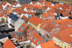 Areal View Over Ribe, Denmark Stock Photos