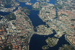 Areal view over Stockholm, Sweden Stock Photos