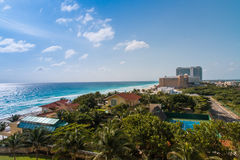 Areal view of resort zone in Cancun, Mexico Stock Image