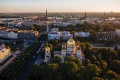 Areal View of Riga, Latvia royalty free stock image