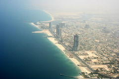 Areal view sharjah Royalty Free Stock Photography