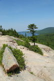 Areal view from the South Bubble Mountain At Acadia National Park Royalty Free Stock Images