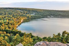 Beautiful Wisconsin summer nature background. royalty free stock image