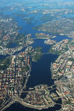 Areal View of Stockholm, Sweden Stock Photo