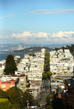 Areal view of streets of San Francisco Royalty Free Stock Image