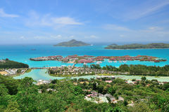 Areal view to the Eden Island. Royalty Free Stock Images