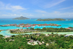 Areal view to the Eden Island. Royalty Free Stock Photography