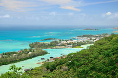 Areal view to the Eden Island. Stock Images