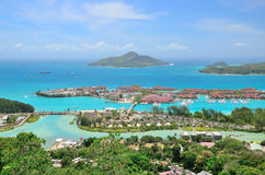 Areal view to the Eden Island, Seychelles. Royalty Free Stock Photo
