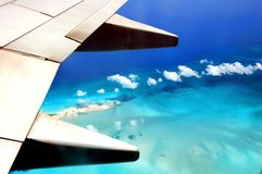 Areal view of a tropical ocean Royalty Free Stock Photos