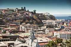 Areal view of Valparaiso stock image
