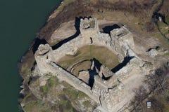 Areal widok baranu forteca w Serbia obrazy royalty free