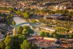 Areal widok TBILISI zdjęcie royalty free
