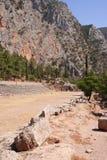 Areale storico a Delfi, Grecia Fotografie Stock