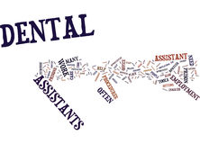 Areas Of Employment For Dental Assistants Word Cloud Concept. Areas Of Employment For Dental Assistants Text Background Word Cloud Concept Stock Photography