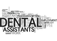 Areas Of Employment For Dental Assistants Word Cloud Royalty Free Stock Photography