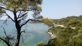 Areas on the road to Azapiko beach royalty free stock photography