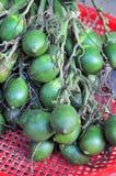 Areca τα φρούτα είναι για την πώληση σε μια τοπική αγορά στο Βιετνάμ Στοκ Φωτογραφίες