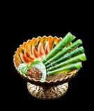 Areca nut, betel nut chewed with the leaf. Is mild stimulant Stock Photos