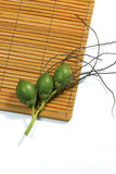 Areca on the rattan Stock Photos