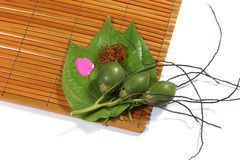 Areca on the rattan Stock Photo