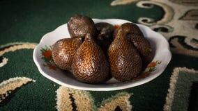 Arecaceae Zalacca εξωτικά τρόφιμα από την Ασία Στοκ εικόνες με δικαίωμα ελεύθερης χρήσης