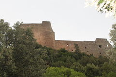 Arechi. The castle of arechi to salernosito on one of the hills of the city 'surrounded by nature Stock Photo