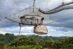 Στενός επάνω δεκτών Arecibo Στοκ Εικόνες