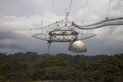 Arecibo Observatory ,radio telescope in the municipality of Arecibo, Puerto Rico royalty free stock photos