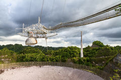 Arecibo radioteleskop Arkivbild