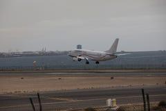 ARECIFE,西班牙- 2017年4月, 15 :COBREX Tran波音737-300  免版税库存图片