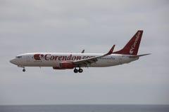 ARECIFE,西班牙- 2017年4月, 15 :Corendon波音737-800  Co 库存照片