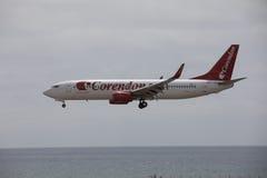 ARECIFE,西班牙- 2017年4月, 15 :Corendon波音737-800  Co 库存图片
