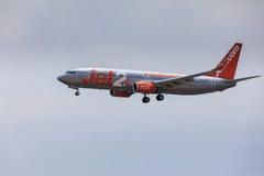 ARECIFE,西班牙- 2017年4月, 16 :Jet2波音737-800与的 免版税库存图片