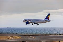 ARECIFE, ΙΣΠΑΝΙΑΣ - 15 ΑΠΡΙΛΙΟΥ, 2017: Airbus A320 του μικρού πνεύματος πλανητών Στοκ φωτογραφία με δικαίωμα ελεύθερης χρήσης