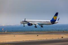 ARECIFE, ΙΣΠΑΝΙΑΣ - 16 ΑΠΡΙΛΙΟΥ, 2017: Boeing 757-300 του κόνδορα με το τ Στοκ εικόνες με δικαίωμα ελεύθερης χρήσης