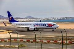 ARECIFE, ΙΣΠΑΝΙΑΣ - 15 ΑΠΡΙΛΙΟΥ, 2017: Boeing 737-800 του ΤΑΞΙΔΙΟΥ Servic Στοκ Εικόνες