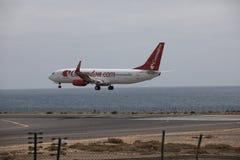 ARECIFE, ΙΣΠΑΝΙΑΣ - 15 ΑΠΡΙΛΙΟΥ, 2017: Boeing 737 - 800 Corendon Κοβάλτιο Στοκ φωτογραφία με δικαίωμα ελεύθερης χρήσης