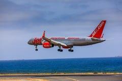 ARECIFE, ΙΣΠΑΝΙΑΣ - 15 ΑΠΡΙΛΙΟΥ, 2017: Boeing 757 - 200 JET2 με το τ Στοκ φωτογραφία με δικαίωμα ελεύθερης χρήσης