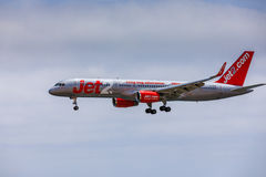 ARECIFE, ΙΣΠΑΝΙΑΣ - 15 ΑΠΡΙΛΙΟΥ, 2017: Boeing 757 - 200 JET2 με το τ Στοκ εικόνα με δικαίωμα ελεύθερης χρήσης