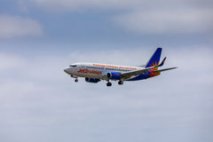 ARECIFE, ΙΣΠΑΝΙΑΣ - 15 ΑΠΡΙΛΙΟΥ, 2017: Boeing 737-300 Jet2holidays Στοκ εικόνες με δικαίωμα ελεύθερης χρήσης