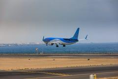 ARECIFE, ΙΣΠΑΝΙΑΣ - 16 ΑΠΡΙΛΙΟΥ, 2017: Boeing 737-800 TUI με Στοκ φωτογραφίες με δικαίωμα ελεύθερης χρήσης