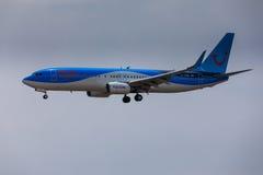 ARECIFE, ΙΣΠΑΝΙΑΣ - 16 ΑΠΡΙΛΙΟΥ, 2017: Boeing 737-800 TUI με Στοκ εικόνες με δικαίωμα ελεύθερης χρήσης