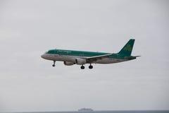 ARECIFE, ESPAÑA - ABRIL, 15 2017: Airbus A320 de Aer Lingus listo Fotos de archivo libres de regalías