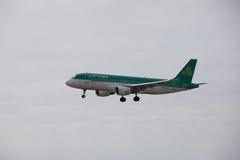 ARECIFE, ESPAÑA - ABRIL, 15 2017: Airbus A320 de Aer Lingus listo Imagenes de archivo
