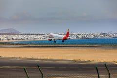 ARECIFE, ESPAÑA - ABRIL, 15 2017: Airbus A321 de IBERIA con Imágenes de archivo libres de regalías
