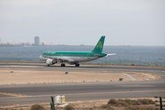 ARECIFE, ESPAGNE - AVRIL, 15 2017 : Airbus A320 d'Aer Lingus à la La Photos libres de droits