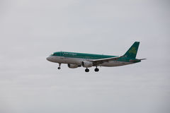 ARECIFE, ESPAGNE - AVRIL, 15 2017 : Airbus A320 d'Aer Lingus prêt Images stock